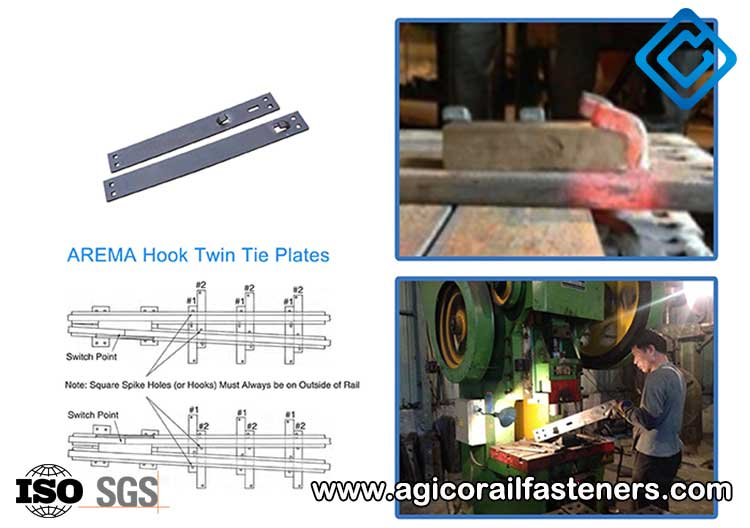 AREMA hook twin tie plate processing