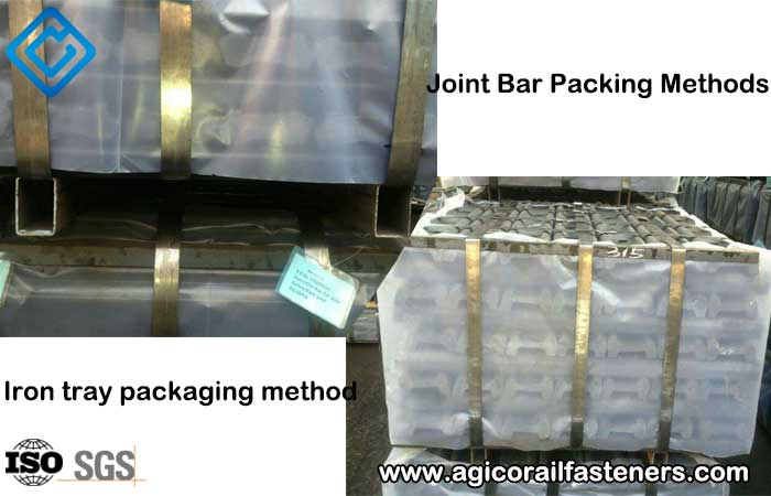 joint bar iron tray packaging method