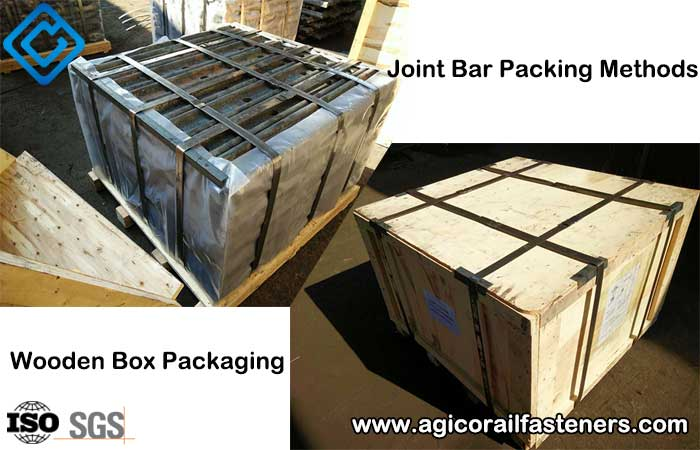 joint bar wooden box packaging method
