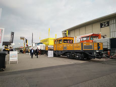 Railway products exhibition inside and outside