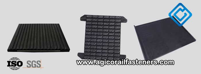 Under rail rubber pads