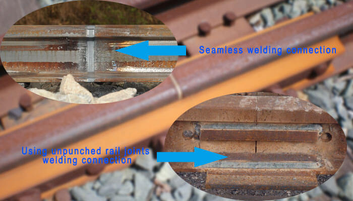 unpunched rail joints welding connection